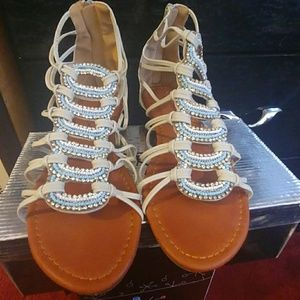 Shoes - Gladiator style sandals with embellishments